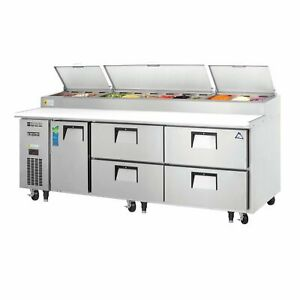 Everest Eppr3 d4 93 Pizza Prep Table Refrigerated Counter