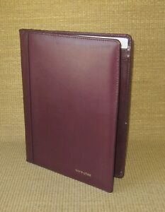 Monarch folio Pad Burgundy Genuine Leather Notepad Padfolio Cover