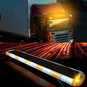 47inch 88 Led Amber Emergency Warning Tow Truck Strobe Light Bar Response Flash