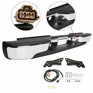 For 99 07 Silverado Sierra 1500 2500 Steel Rear Step Bumper Face Bar