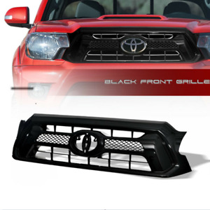 For 2012 2013 14 15 Toyota Tacoma Blk Oe Style Mesh Front Hood Bumper Grille Abs