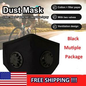 2 Valves 1 10x Reusable Anti Haze Fog Pm2 5 Respirator Face Mask carbon Filters