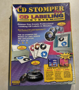 Cd Stomper Pro cd dvd Labeling System new Sealed Free Shipping