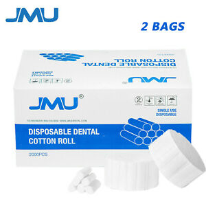 4000 Pcs Jmu Dental Surgical Disposable Cotton Rolls 2 Medium High Absorbent Us
