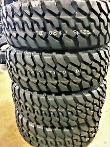 4 New Atlas Tire Priva M t Lt 265 70r17 Load E 10 Ply owl Mt Mud Tires