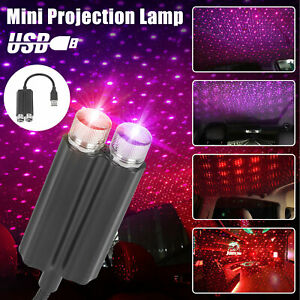 Usb Car Interior Led Light Roof Atmosphere Starry Sky Lamp Star Projector Lights