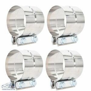 4pcs For Catback Muffler Downpipe 2 5 Stainless Exhaust Band Clamp Step Clamps