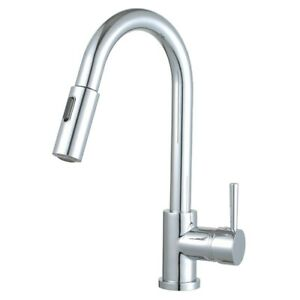 Morgana 16 Single Handle Pull Down Standard Kitchen Faucet Polished Chrome
