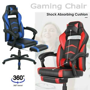 Gaming Chair Home Office Comfort Seat Swivel Footrest Racing Ergonomic Recliner
