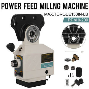 X axis Power Feed For Vertical Milling Machine 150 Lbs Torque Knee Mills Fits