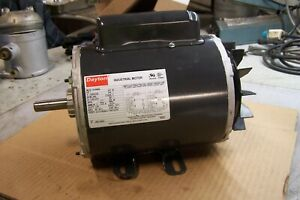 New Dayton 1 Hp Electric Ac Motor 115 208 230 Vac 3450 Rpm 1 Phase 56 Frame