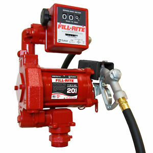 Fill rite Fr701v 115 volt Fuel Transfer Pump With Manual Nozzle 15 Gpm Red