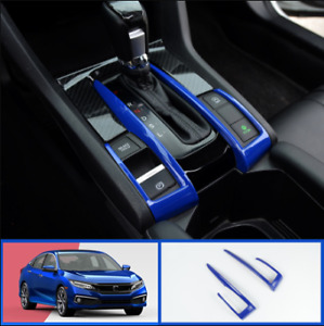 Abs Blue Interior Gear Shift Box Trim Strip 2 For Honda Civic 2016 2020