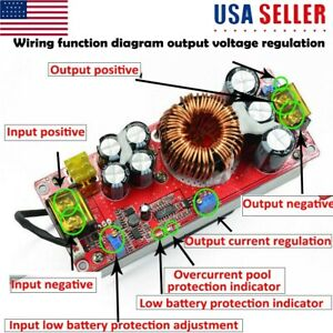 1800w 40a Dc dc Step up Boost Voltage Converter Constant Current Power Module Us
