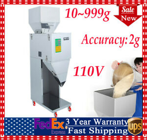 Automatic Powder Filler Machine Racking Filling Weigh For Tea seed grain 10 999g
