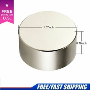 N52 Large Neodymium Rare Earth Magnet Big Super Strong Huge 40mm 20mm Round Size