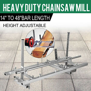 Portable Chainsaw Mill 48 Inch Planking Milling Bar Size 14 To 48