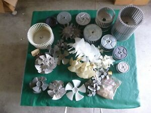 Lot Of 63 Assorted Metal And Plastic Fan Blades For Motors Cooling Hvac