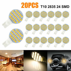 20x T10 921 194 Warm White Rv Trailer Landscaping 24smd Interior Led Light Bulb