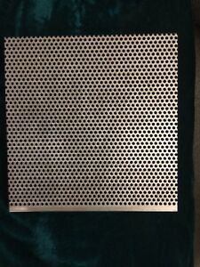 Two Perforated Stainless Steel 6 X 6 3 32 Inch Hole 20 Gauge Free Shipping