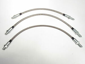 Stainless Steel Brake Hose Kit Fits Lotus Elan Elite Mg Magnette Ford Anglia