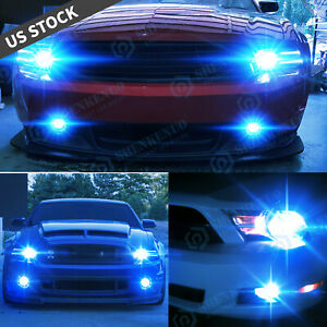 4pc Ice Blue Led Headlight High low Fog Light Bulbs For Ford Mustang 2005 2012