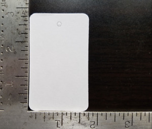 1000 Blank White Garment Price Tags Merchandise Jewelry Coupon Large No String