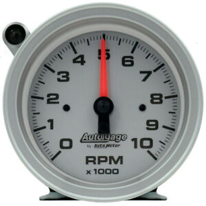 Auto Meter Tachometer Gauge 233909 Auto Gage 0 10000 3 3 4 Full Sweep Electric