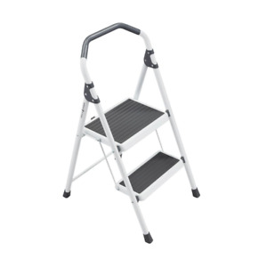 Gorilla 2 step Steel Lightweight Stool Ladder 225 Lbs Load Cap Type Ii Duty R