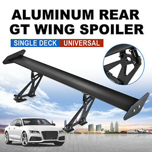 43 3 Aluminum Gt Style Hatch Rear Trunk Wing Racing Spoiler Car