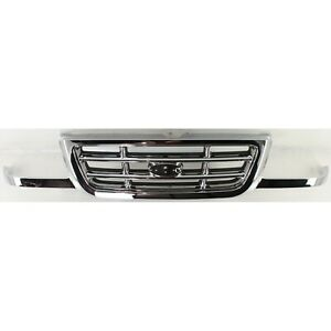 Grille For 2001 2003 Ford Ranger Chrome Plastic
