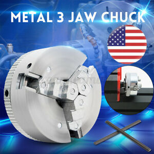 Metal 3 Jaw Lathe Chuck M12 45mm X 20mm Self Centering Hardened Lock Rods