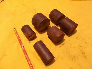 6 Pc Lot Of S 7 Tool Steel Rod Machine Mold Die Shop Round Bar S7 Stock