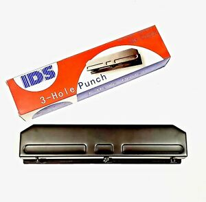 Adjustable Desktop 3 hole Puncher 12 Sheet Capacity Made By Ids