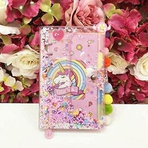 Ribenn Binder Notebook A5 Notebook Diary Book 6 Hole Unicorn Transparent Cover R