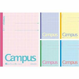 Kokuyo Notes Campus Notes Limited B5 5 Books Pack Ruled Paper A Ruffled Pastel C