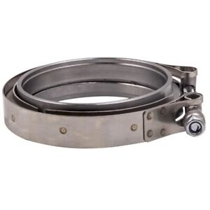 Universal 4 Inch Stainless Steel V Band Turbo Downpipe Exhaust Flange Clamp