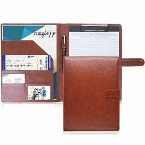 Binder A4 Leather Clipboard Leather Multi function Folder Card Business Card Hol