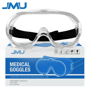 Protective Eyewear Clear Lens Safety Goggles Over Glasses Lab Work Eye Usa Stock