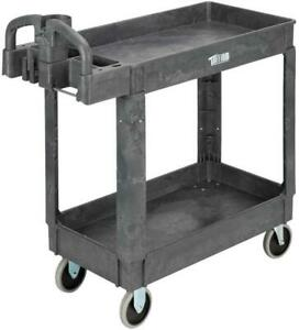 Tool Cart Plastic Utility Rolling Service Heavy Duty Cart Packages Carts 550 Lb