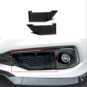 New For Honda Civic 10th 2019 2020 Piano Black Style Front Fog Lights Panel Trim