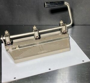 Vintage Boston 3 Hole Heavy Duty Metal Hole Punch With Adjustable Hole Positions