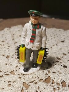 1992 Coca-cola Village Miniature of Boy carrying Two Cases Of Coke 3.25