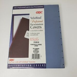 Gbc Velobind Professional Presentation Covers 25 Sets Pre punched Medium Blue
