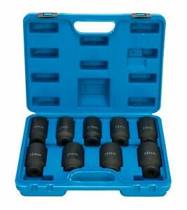 9pcs Deep Impact Socket Set 1 2 Drive Metric Axle Hub Nut Socket Set 29 38mm Us