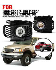 For 99 03 Ford F 150 Expedition 04 F150 Heritage Fog Lights Clear Halo Projector