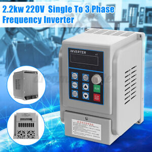 Us Upgrate 2 2kw 3hp Single To 3 Phase Variable Frequency Drive Inverter Cnc