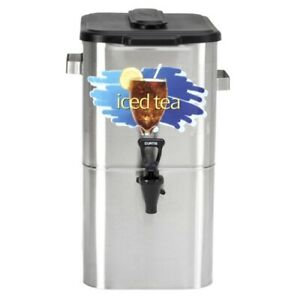 Curtis Commercial Stainless Steel Bag in box Cold Coffee Dispenser 4 Gal
