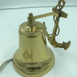 Nautical Ship S Boat Bell W Anchor 6 Solid Brass Marine Maritime Wall Decor