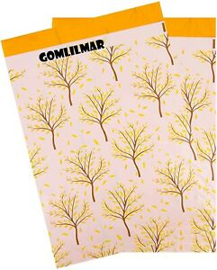Poly Mailers 14 5x19 50 Pack autumn Trees Large Shipping Bags